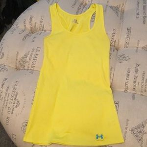 Under Armour yellow tank size XS